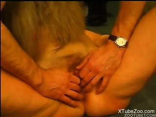 Hardcore bestiality sex featuring a really horny couple