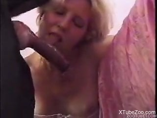 Hardcore bestiality oral with two stunning sluts